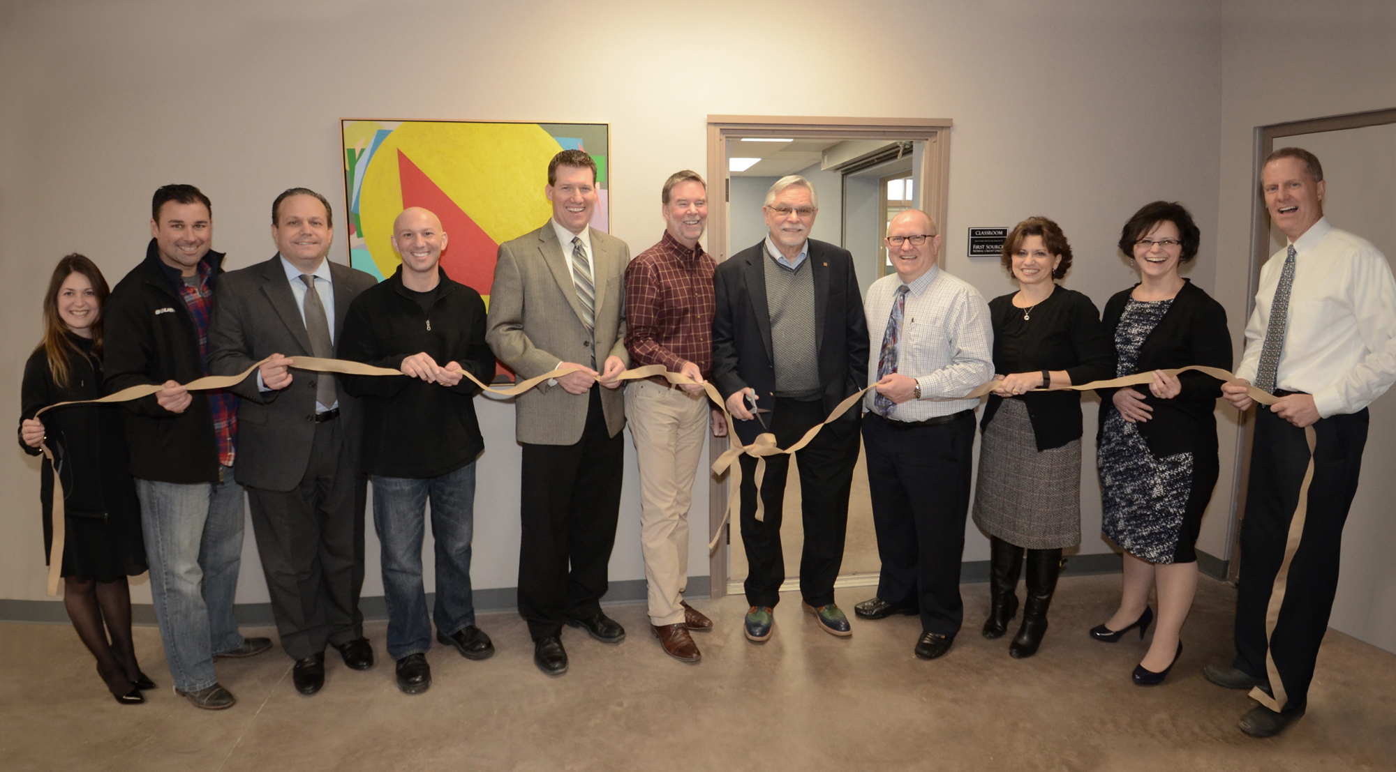 First Source staff dedicated the new multi-purpose room at The Root Farm