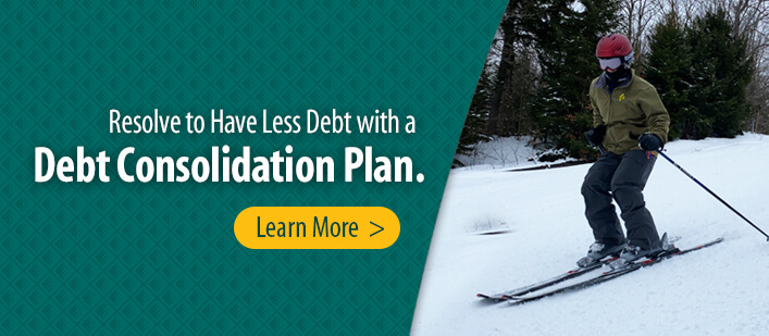 Resolve to have less debt with a Debt Consolidation Plan.
